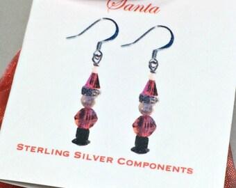 Santa kit, Earring kit, DIY, stocking stuffer, Christmas gift, Christmas earrings, DIY jewelry kit