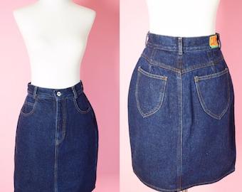 Vintage Calvin Klein Jean Skirt // Designer Vintage, 80s, 90s, Women Size Small