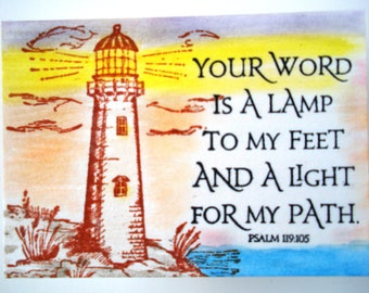Thy Word Is A Lamp Unto My Feet And A Light Unto My Path Psalm