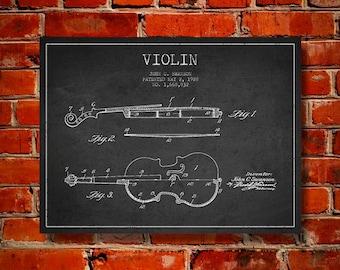 1928 Violin Patent, Canvas Print, Wall Art, Home Decor, Gift Idea