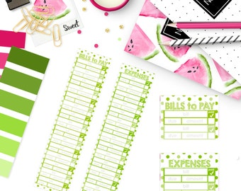 Monthly Bill / Expense Tracker Stickers | DEC 2016 EC VERTICAL Color Palette |  LB211