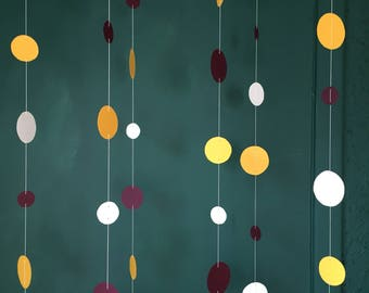 Paper Garland circles for parties events and decor! Custom color orders