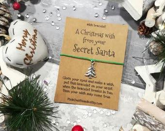 Secret Santa Wish Bracelet, Christmas Wish Bracelet, Santa Wish Bracelet, Christmas Jewellery, Santa Gift, Secret Santa, Santa Present, Gift