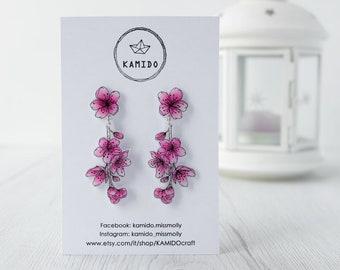 Pendant earrings Cherry