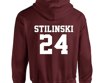 Stiles Stilinski 24 Wolf Teen Beacon Hills Lacrosse Adult Hooded Sweatshirt With Print on Rear Only Hoodie Teenwolf
