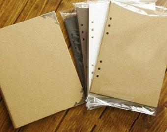 20 Refill / Replacement Sheets for 6-Ring Blank Kraft Hardcover Binder, DIY Scrapbook Photo Album