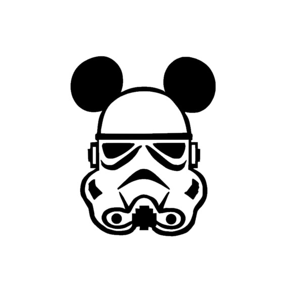 Storm trooper mickey disney magic band decal storm trooper mickey decal storm trooper sticker magic band storm trooper mickey decal