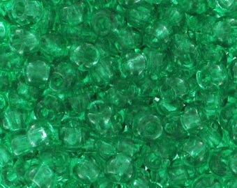 Green 2.5 mm 9/0-1 bag of 10 g seed beads