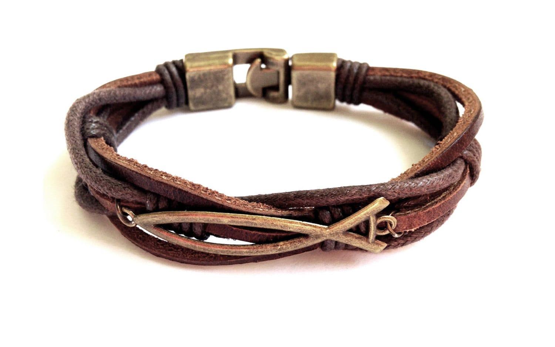 Leather bracelet men faith bracelet christian leather zoom biocorpaavc Choice Image