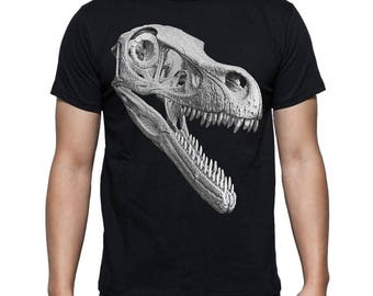 Velociraptor Raptor Dinosaur Skull T-Shirt