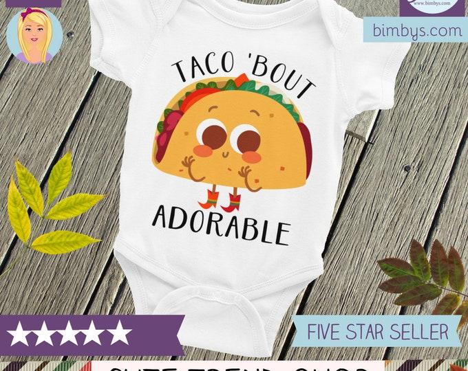 Cute Baby Onepiece - Taco ONESIE® Taco Baby Shirt Taco Baby Gift, Cute Baby Clothes, funny baby onesie, taco bout cute, taco shirt