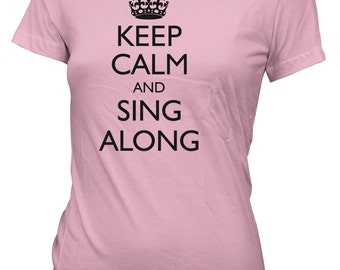 Keep Calm and Sing Along Funny Karaoke T-Shirt for Juniors