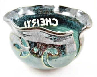 Personalized Yarn bowl , custom made knitting bowl, handmade knitting bowl with name - Made to order