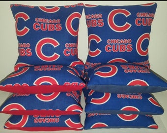 Set Of 8 Chicago Cubs Cornhole Bean Bags FREE SHIPPING