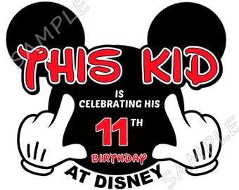 This Kid is Celebrating his Birthday at Disneyland Disney World Vacation T-Shirt