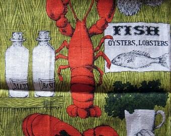 Lobster Fest Vintage Kitchen Towel-Lois Long  Design