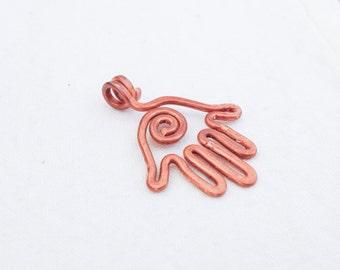 Copper hamsa pendant