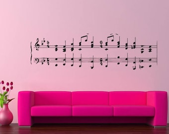 Wall Decal Sticker Music Melody Band Jazz Dj Composer Notes Piano Guitar ZX001
