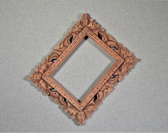 6x8 Frame Carved Wood with Optional Glass and Custom Cut Matting