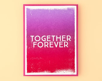 Together Forever Letterpress Greeting Card