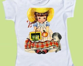 Mary had a Little Lamb, Back to School,Girls clothes, Vintage Storybook, Girls school T-Shirt, Birthday shirt, Kindergarten, 1st grade