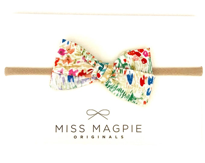 Sloane headband || cream floral