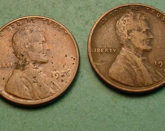 Lincoln Wheat  Cents X's 2  1926-D, 1927-D What you see is what you get Free SH In United States # ET1061