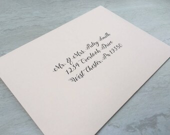 A7 Envelope Address Printing + Envelope - Guest & Return Address Digital Printed Calligraphy - Wedding Invitation Address Printing
