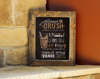 "Orange Crush - Hand-Lettered Recipe - 8""x10"" - Maryland Art"