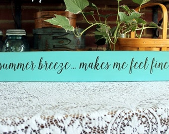 Wood Sign for Summer Breeze Porch Beach Wall Decor Beach Decor Summertime Handmade