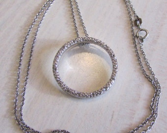 Sterling Silver Circle Pendant and Chain Necklace