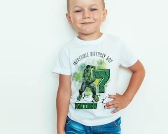 Incredible Hulk birthday Kids  T-Shirt, Childrens Toddlers T Shirt Top.