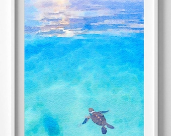 turtle print,painting,watercolor,wall art,Pic no 92