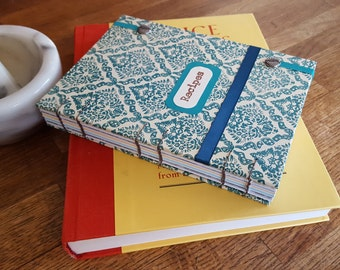 Blank Cookbook, Kitchen Notebook, Recipe Book, Made to Order, Personalizable, 3 Colors Available, Wedding Gift