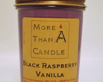 8 oz Black Raspberry Vanilla Soy Candle
