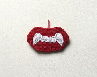 Wax Vampire Fangs Crochet Pattern