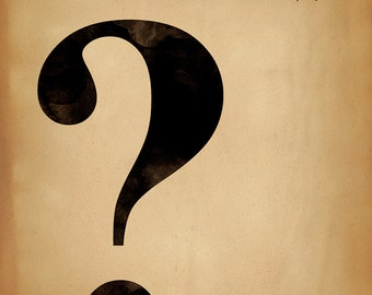 Question mark print etsy
