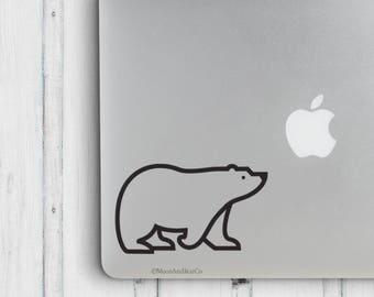 Polar Bear                 , Laptop Stickers, Laptop Decal, Macbook Decal, Car Decal, Vinyl Decal