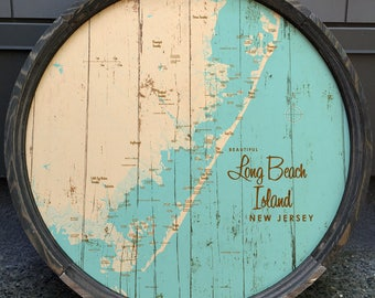 Long Beach Island, NJ Map Barrel End