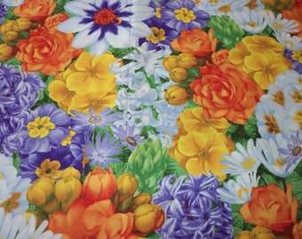Georgeous Flowers Fabric By Fat Quarter New BTFQ