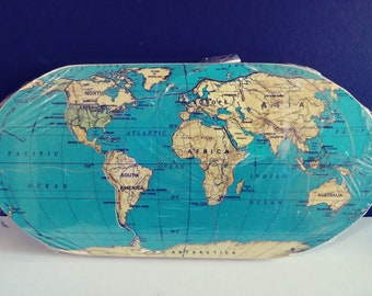 Vintage home decoration etsy vintage wood map of the world jigsaw puzzle map home decorations vintage wood puzzles educational kids gumiabroncs Gallery