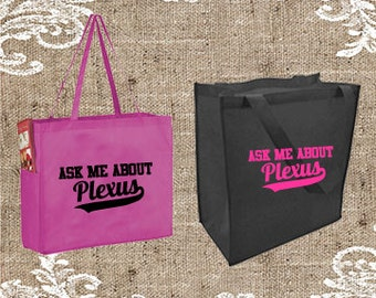 Ask Me About Plexus grocery Tote, Ask Me About Plexus Tote, Ask Me About Plexus Promotional Tote bag, Tote Bag, Totebag