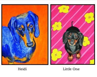 Archival Print - 8X10 - Dachshund Doxie Dog