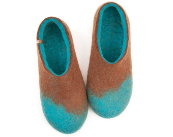 Wool Felted slippers, Mens house shoes, boiled wool slippers, trendy slippers, mens warm slippers, mens wool clogs, best gifts ideas for men