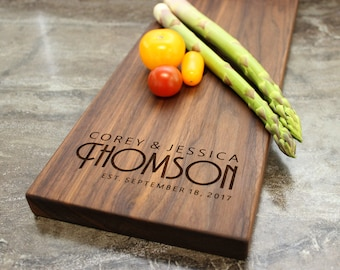 Personalized Cheese Board, Serving Board, Bread Board, Custom, Engraved, Wedding Gift, Housewarming Gift, Anniversary Gift, Engagement #34