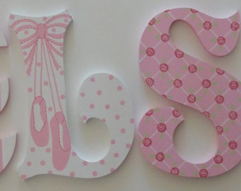 Ballet Inspired Wall Letters