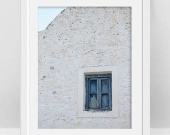 Window Poster, Window Printable Art, Boho Chic Decor, Muted Color, Greek Architectural Detail, Minimalist Poster, Greek Gifts, Cycladic Art