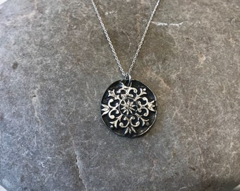 Artemis - handmade solid silver pendant set in a sterling silver chain
