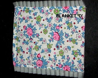 Miniature ROSE BLANKET (D) or Canopy Top (Dollhouse Dressups)