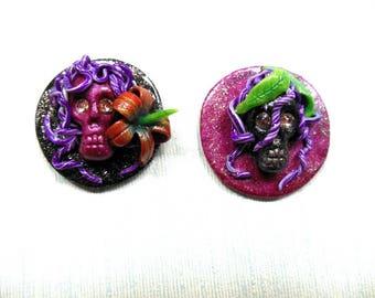Ancient Sea Gypsies Mer-Mystic Seers pair of besties locker magnets fridge housewarming best friends sea witch magical decor gifts